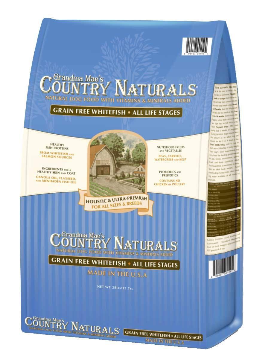 Grandma Mae's Country Naturals Grain-Free Whitefish Dry Dog Food, 14-lb