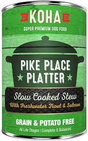 Koha Slow Cooked Stew Pike Place Platter Wet Dog Food, 12.7-oz