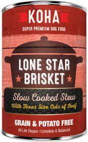 Koha Slow Cooked Stew Lone Star Brisket Wet Dog Food,12.7-oz (Size: 12.7-oz) Image