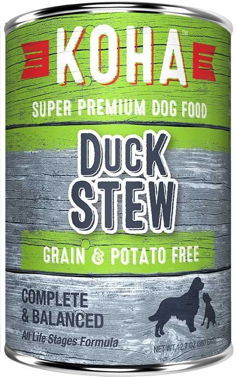 Koha Minimal Ingredient Duck Stew Wet Dog Food, 12.7-oz