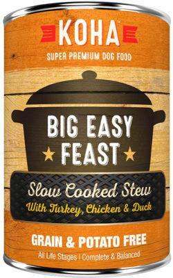 Koha Slow Cooked Stew Big Easy Feast Wet Dog Food, 12.7-oz