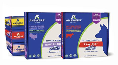 Answers Detailed 1-oz Nibbles Turkey Formula Raw Dog Food, 2.2-lbs.