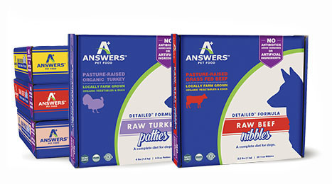 Answers Detailed 8-oz Patties Chicken Formula Raw Frozen Dog Food, 4-lbs.