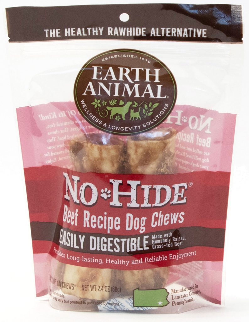 Earth Animal No-Hide Beef Chew Dog Treats, 4-in, 2-pack