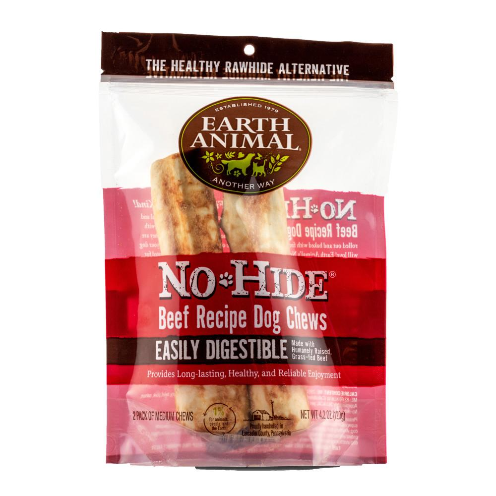 Earth Animal No-Hide Beef Chew Dog Treats, 7-in, 2-pack