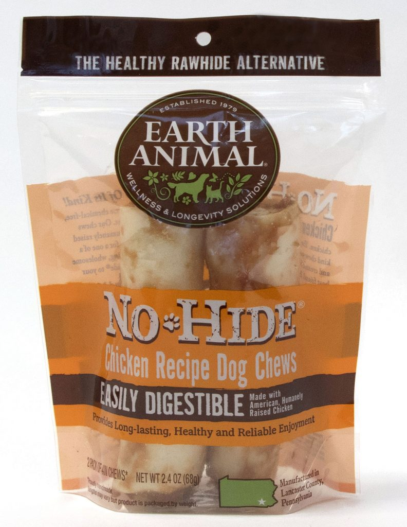 Earth Animal No-Hide Chicken Chew Dog Treats, 4-in, 2-pack