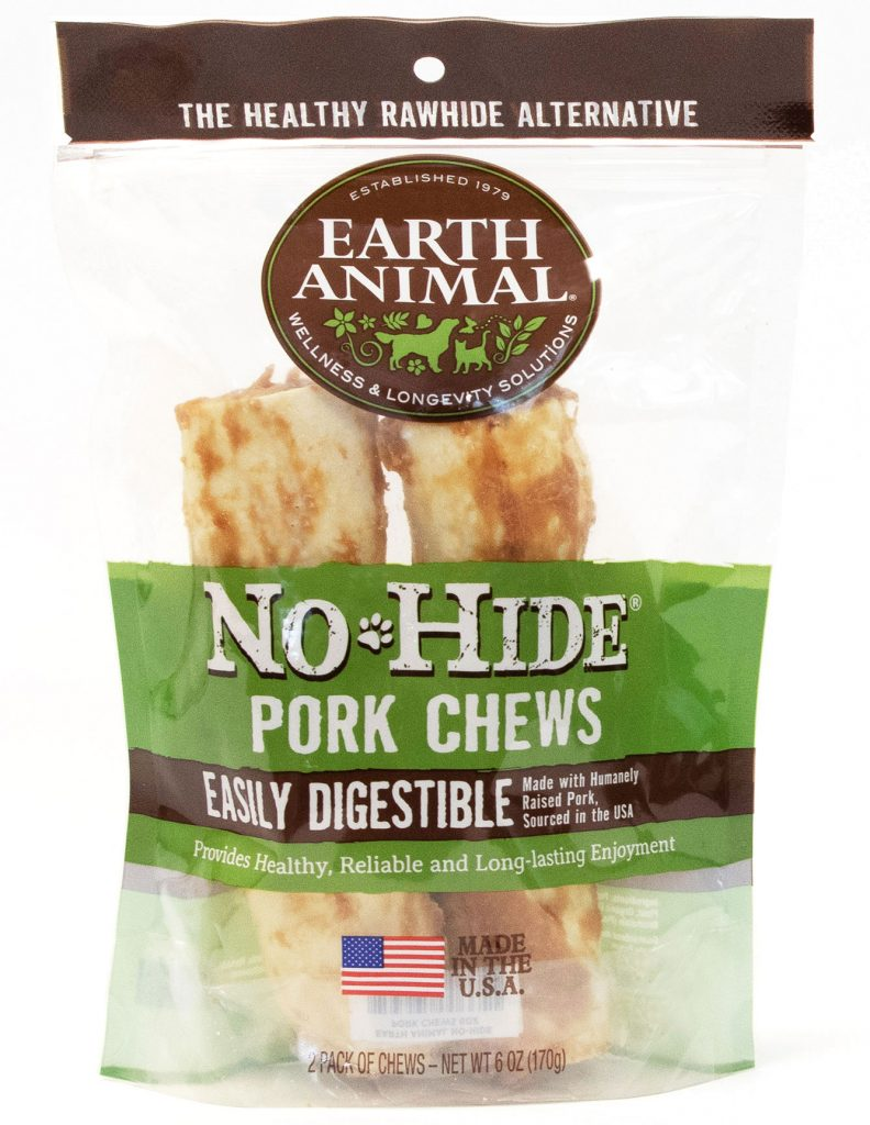 Earth Animal No-Hide Pork Chew Dog Treat, 7-in, 2-pack