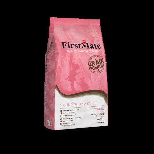 FirstMate Grain-Friendly Cat & Kitten Dry Cat Food, 13.2-lb