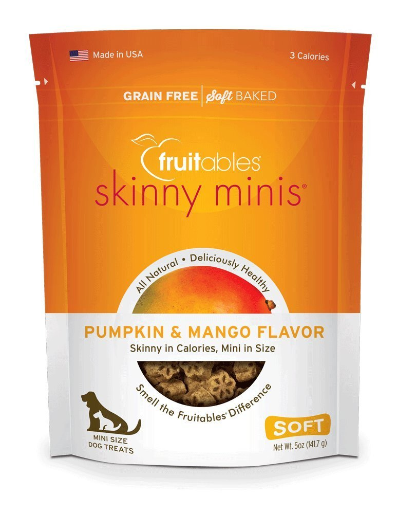 Fruitables Skinny Minis Pumpkin & Mango Soft & Chewy Dog Treats, 5-oz