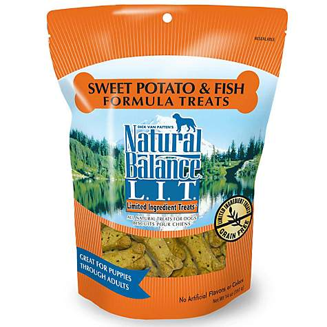 Natural Balance Sweet Potato and Fish Formula Dog Treats, 14-Ounce Bag