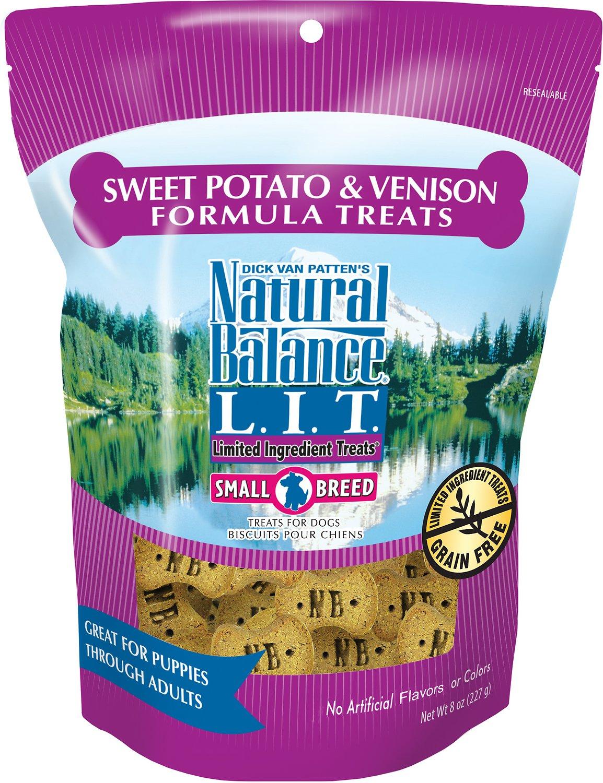 Natural Balance L.I.T. Limited Ingredient Treats Sweet Potato & Venison Formula Dog Treats, Small Breeds, 8-oz