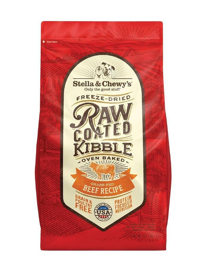 Stella & Chewy's Raw Coated Kibble Beef Recipe Grain-Free Dog Food, 22-lb