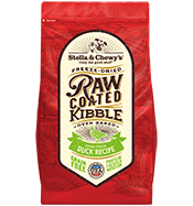 Stella & Chewy's Raw Coated Kibble Duck Recipe Grain-Free Dry Dog Food, 3.5-lb