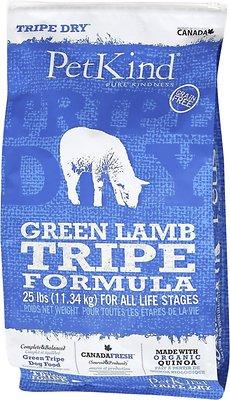 PetKind Tripe Dry Green Lamb Tripe Formula Grain-Free Dry Dog Food, 25-lb