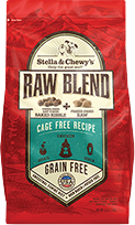 Stella & Chewy's Raw Blend Cage Free Recipe Freeze-Dried Raw & Dry Dog Food, 22-lb