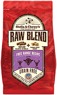 Stella & Chewy's Raw Blend Free Range Recipe Freeze-Dried Raw & Dry Dog Food, 22-lb