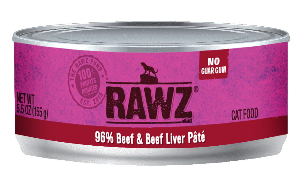 RAWZ Cat 96% Beef & Beef Liver Pate, 5.5-oz