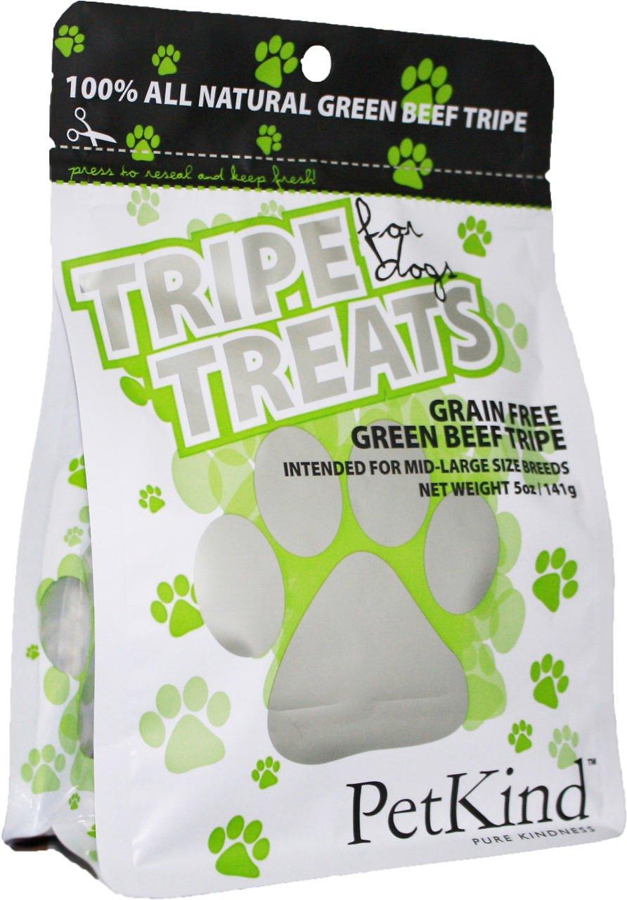 PetKind Grain-Free Green Beef Tripe Dog Treats, 5-oz