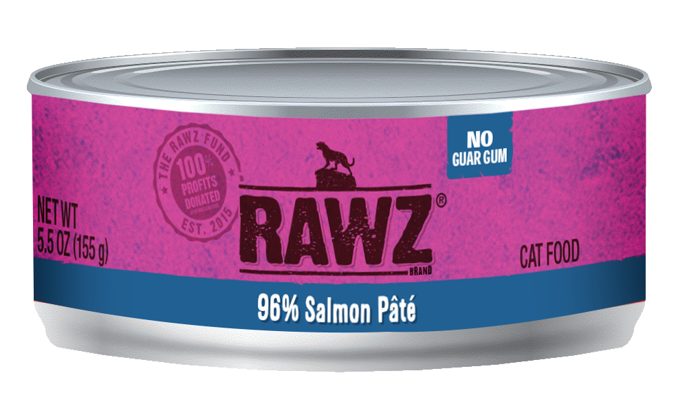 RAWZ Cat 96% Salmon Pate, 5.5-oz