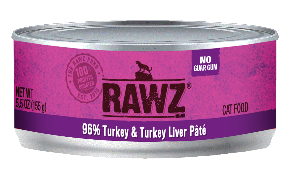 RAWZ Cat 96% Turkey & Turkey Liver, 5.5-oz