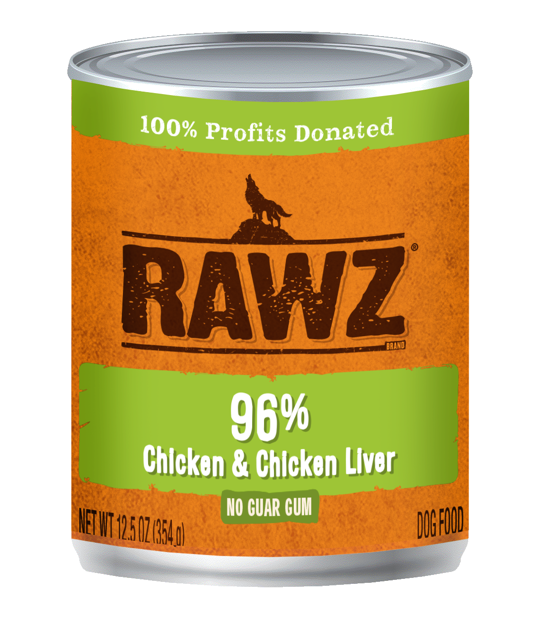 RAWZ Dog 96% Chicken & Chicken Liver, 12.5-oz