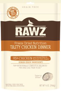 RAWZ Dog Freeze-Dried Tasty Chicken Dinner, 14-oz