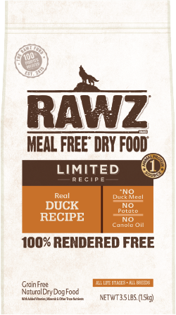 RAWZ Meal Free Dry Dog Food Limited Ingredient Diet Duck Recipe Image