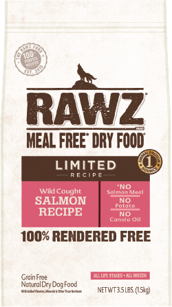 RAWZ Meal Free Dry Dog Food Limited Ingredient Diet Wild Caught Salmon Recipe, 20-lb