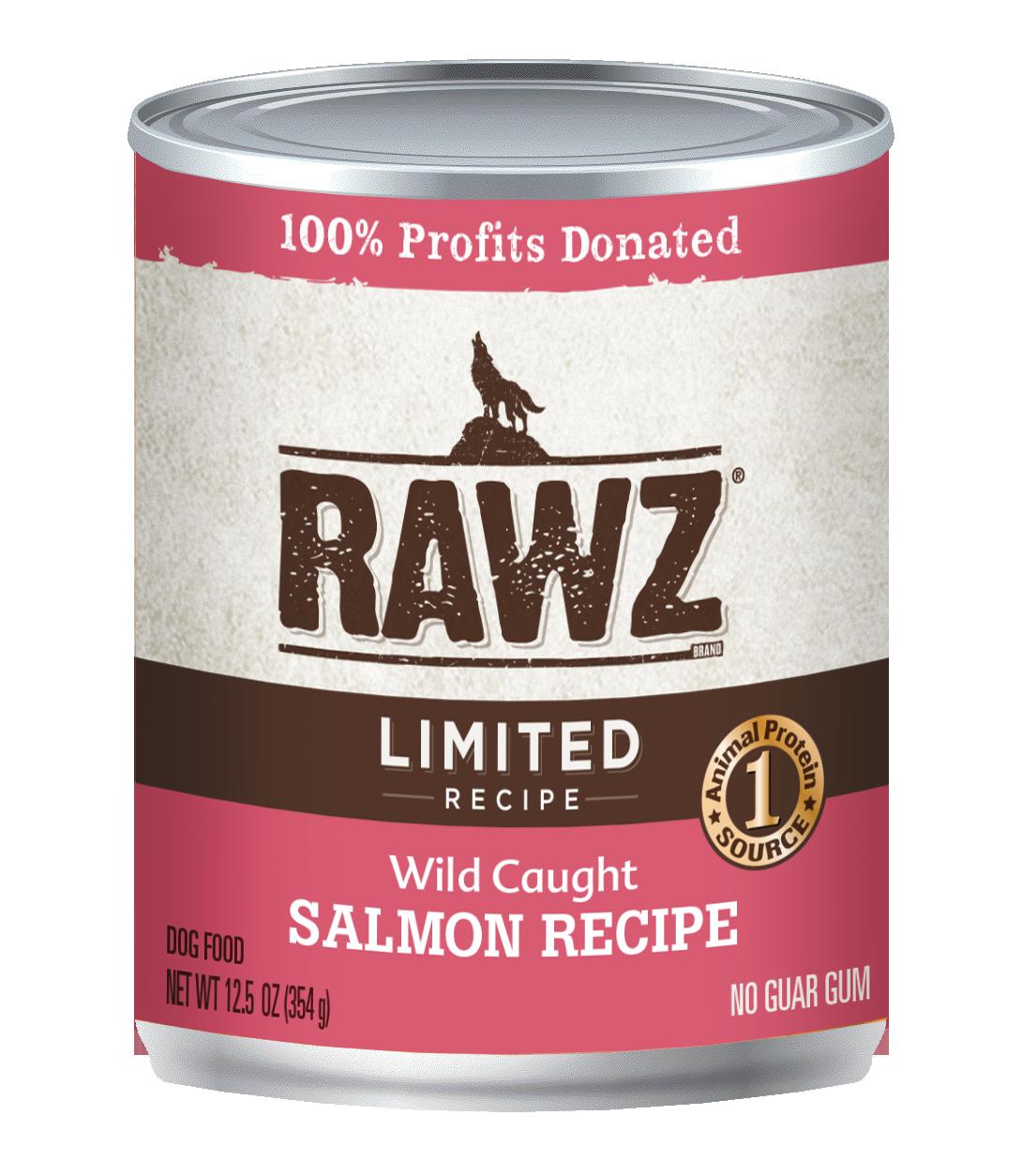 RAWZ Dog Wet Food Limited Ingredient Diet Wild Caught Recipe, 12.5-oz