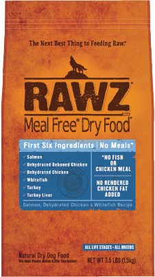 RAWZ Meal Free Dry Dog Food Salmon, Chicken & Whitefish Recipe Image