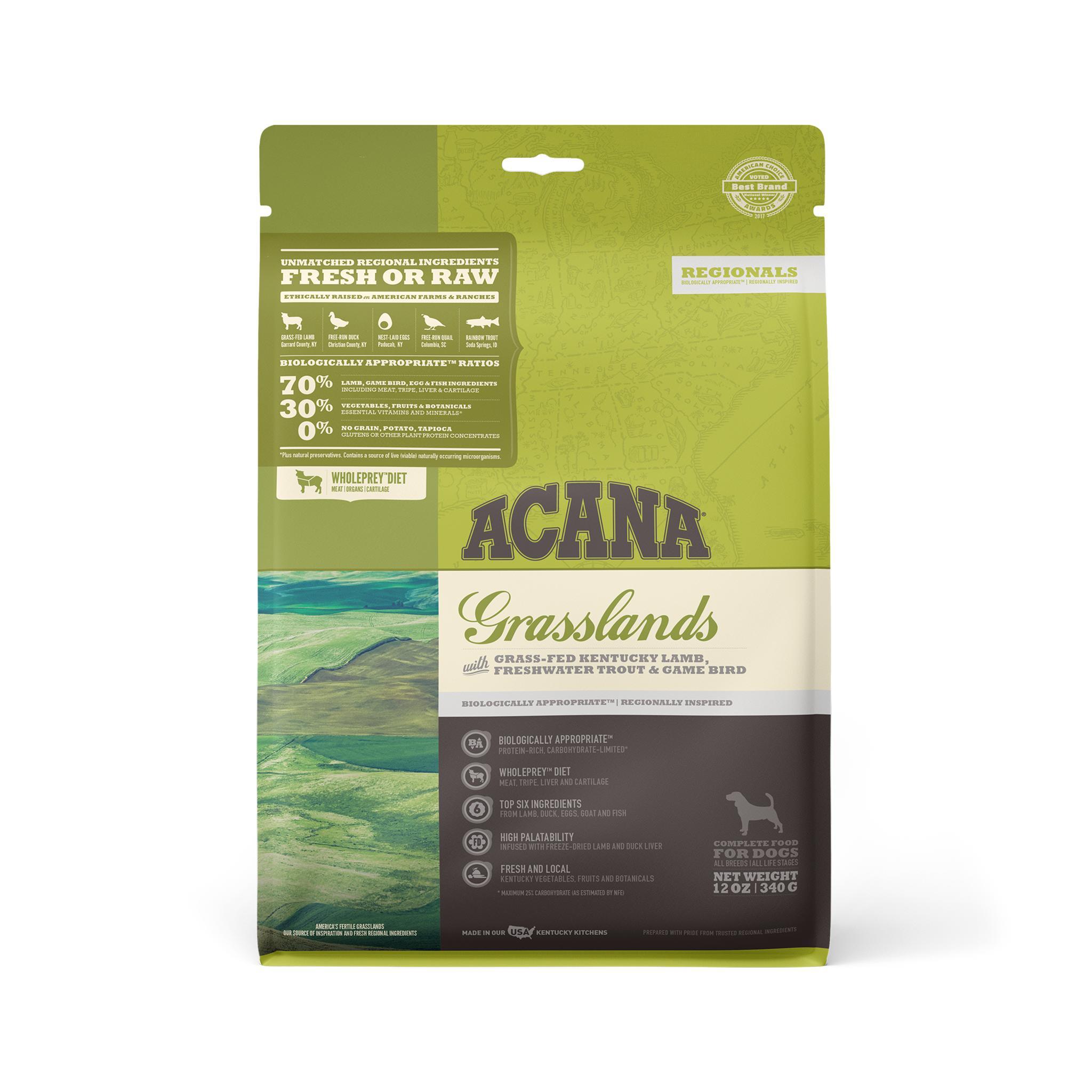 ACANA Regionals Grasslands Grain-Free Dry Dog Food, 12-oz