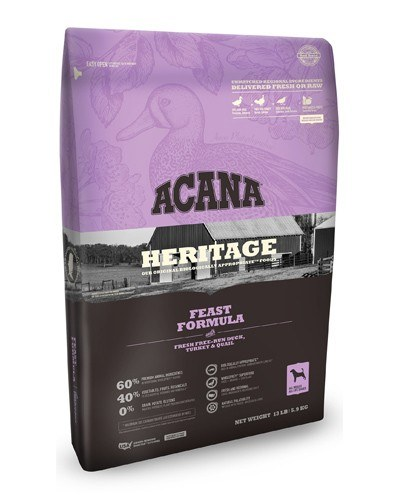 ACANA Heritage Feast Formula Grain Free Dry Dog Food, 25-lb