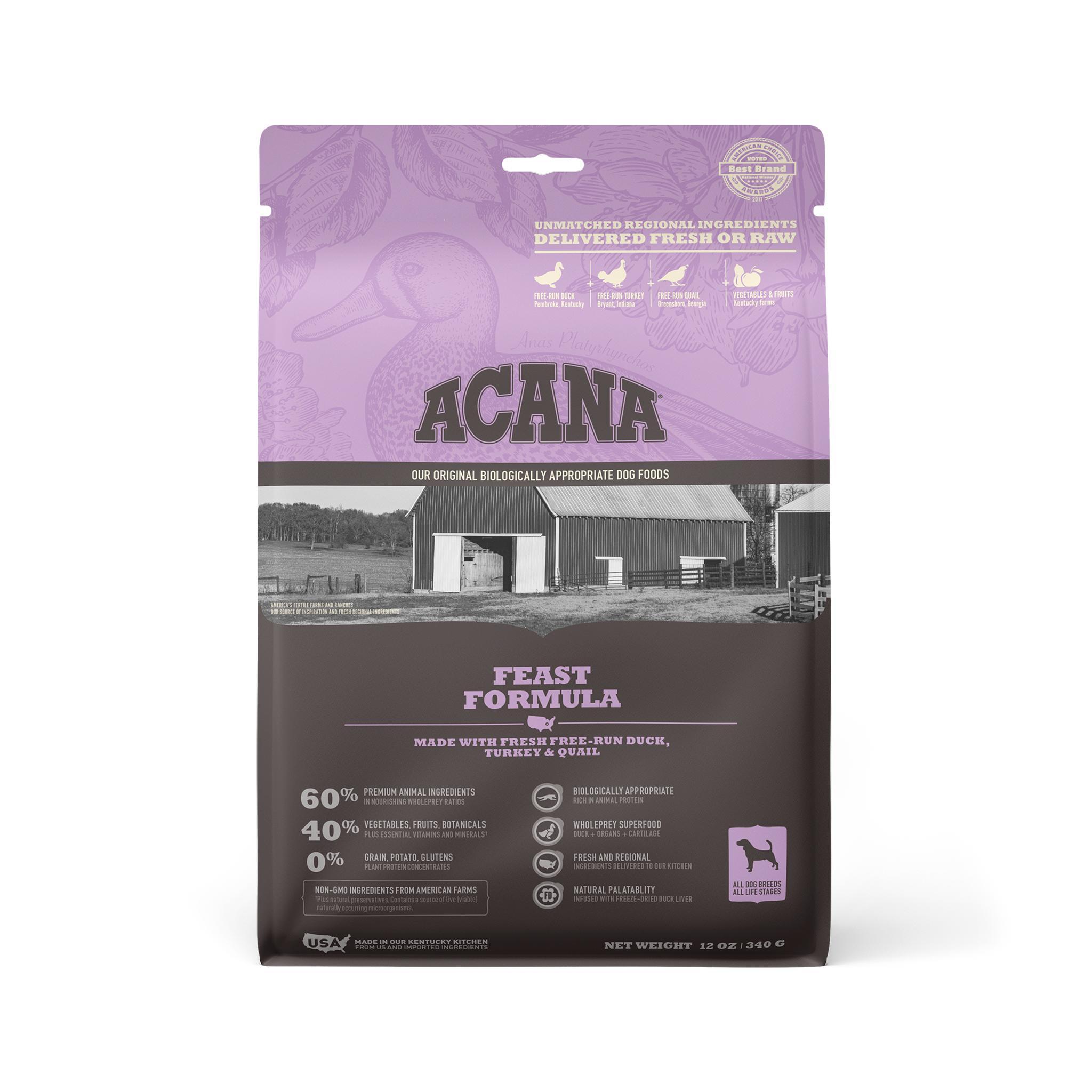 ACANA Feast Grain-Free Dry Dog Food, 12-oz Size: 12-oz