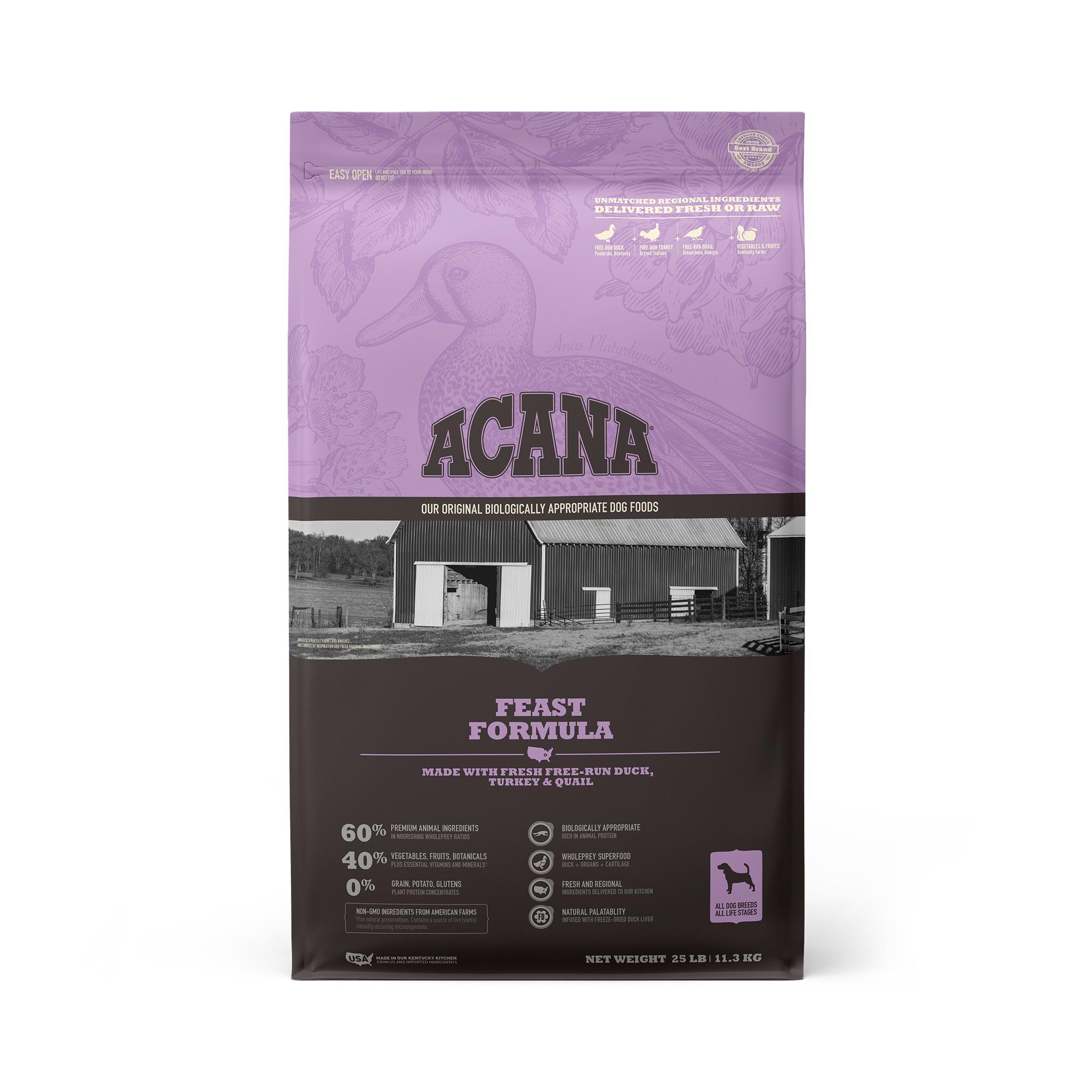 ACANA Feast Grain-Free Dry Dog Food, 25-lb