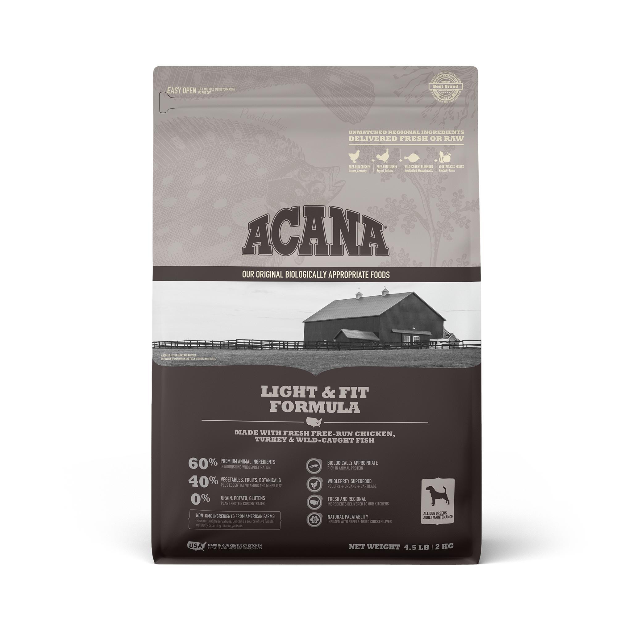 ACANA Light & Fit Grain-Free Dry Dog Food, 4.5-lb