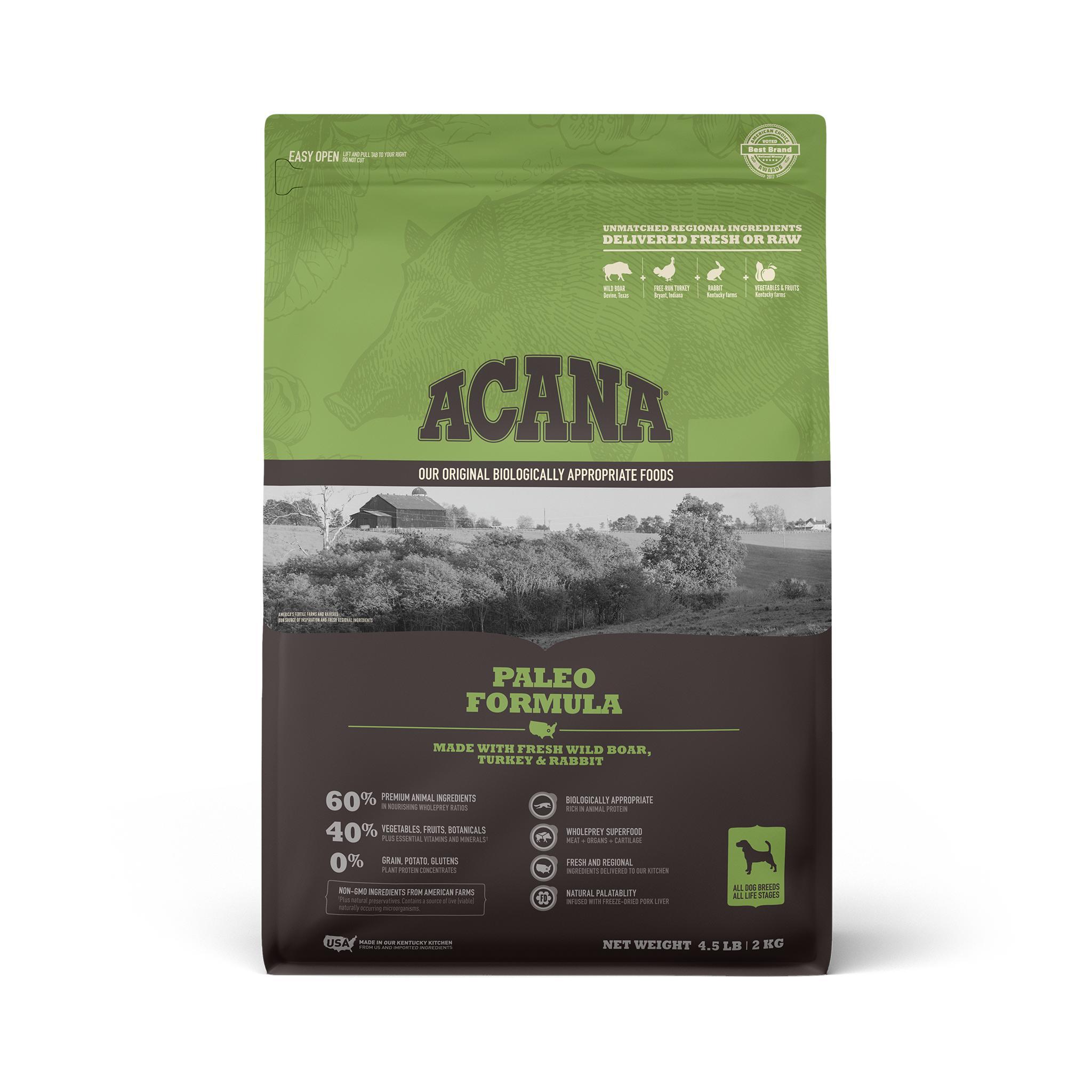 ACANA Paleo Grain-Free Dry Dog Food, 4.5-lb