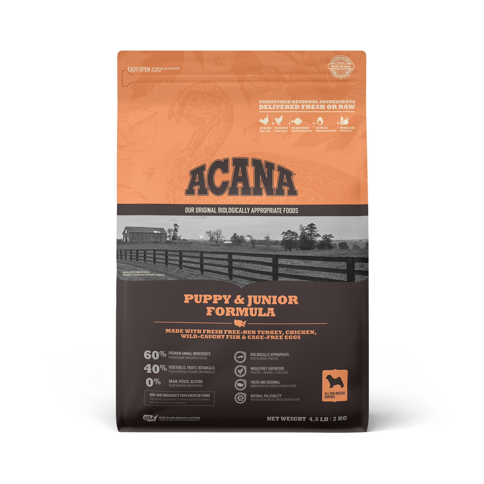 ACANA Puppy Grain-Free Dry Dog Food, 4.5-lb