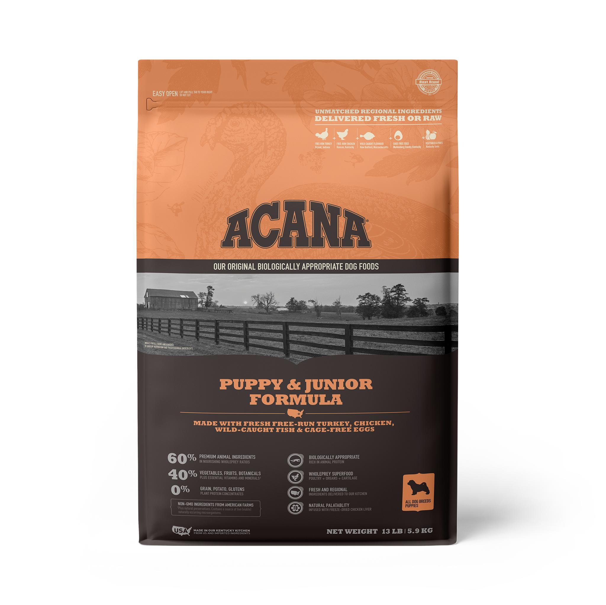 ACANA Puppy Grain-Free Dry Dog Food, 13-lb