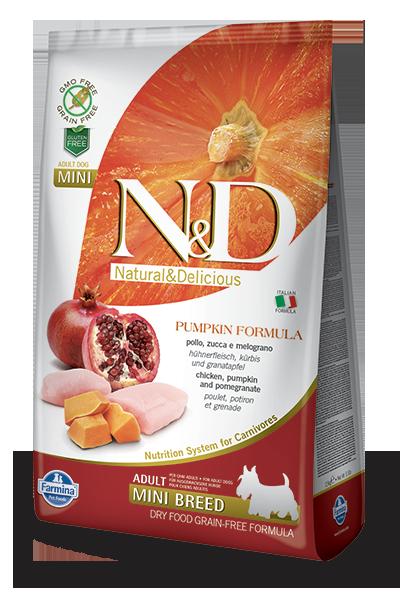 Farmina N&D Pumpkin Chicken & Pomegranate Adult Mini Dog Dry Food, 5.5-lb