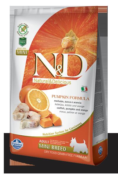 Farmina N&D Pumpkin Cod & Orange Adult Mini Dog Dry Food, 5.5-lb