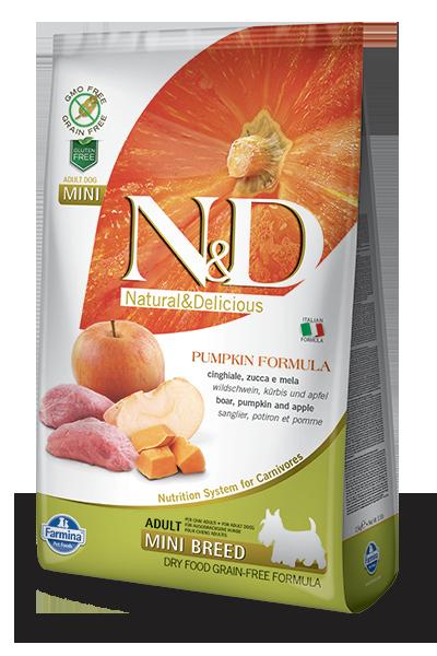 Farmina N&D Pumpkin Boar & Apple Adult Mini Dog Dry Food, 5.5-lb