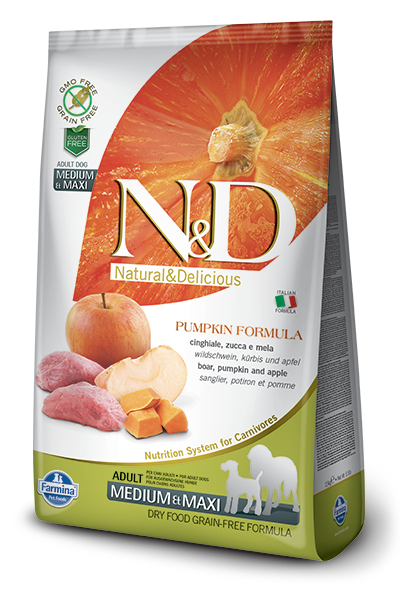 Farmina N&D Pumpkin Boar & Apple Adult Medium & Maxi Dog Dry Food Image