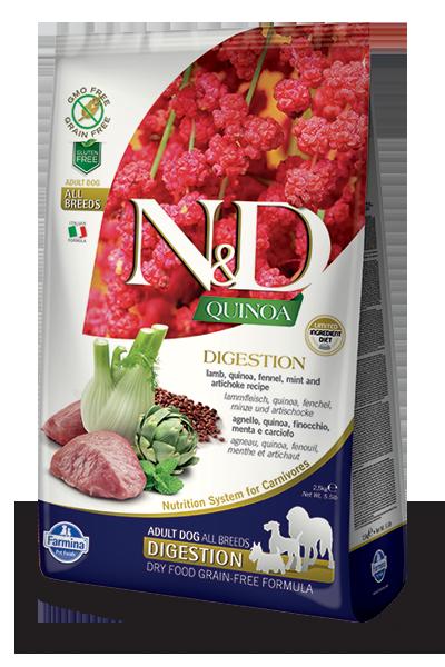 Farmina N&D Quinoa Digestion Lamb Dry Dog Food, 15.4-lb
