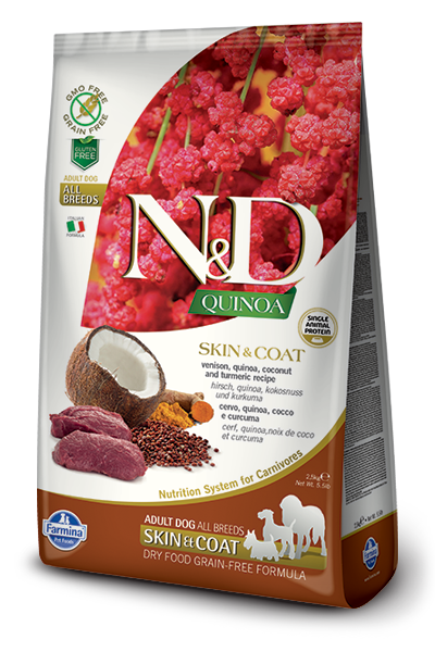 Farmina N&D Quinoa Skin & Coat Venison Dry Dog Food Image