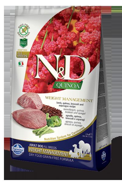 Farmina N&D Quinoa Weight Management Lamb Dry Dog Food, 5.5-lb