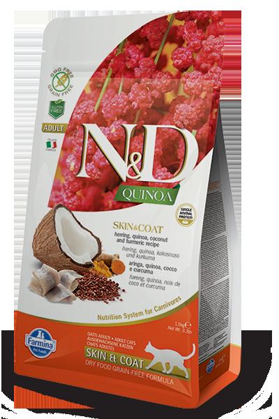 Farmina N&D Quinoa Skin & Coat Herring Dry Cat Food Image