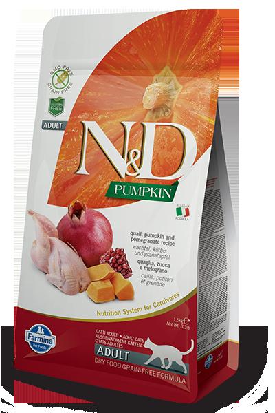Farmina N&D Pumpkin Quail & Pomegranate Dry Cat Food, 3.3-lb