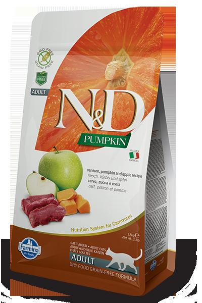 Farmina N&D Pumpkin Venison & Apple Dry Cat Food, 3.3-lb