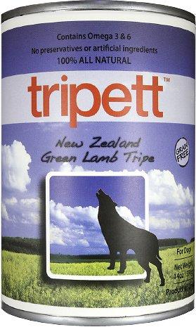 PetKind Tripett New Zealand Green Lamb Tripe Grain-Free Canned Dog Food, 13-oz