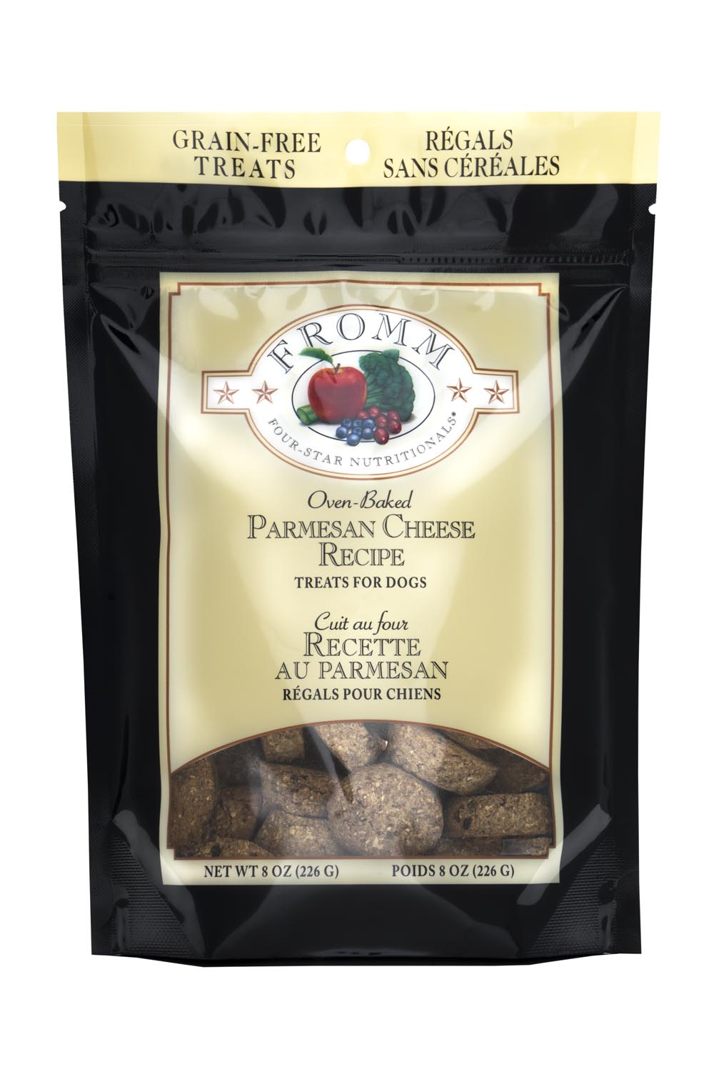 Fromm Four Star Parmesan Cheese Dog Treats, 8-oz